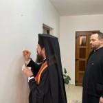 Binecuvântarea lucrărilor efectuate la casa parohială din Runcu Salvei